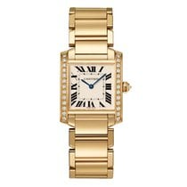 Cartier Yellow gold Quartz Silver 30mm new Tank (submodel)