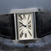 Cartier Tank Divan Steel 32mm White Roman numerals
