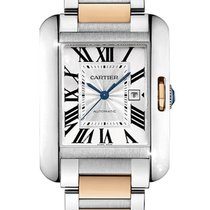 Cartier W5310007 Gold/Steel 2013 Tank Anglaise 39.2mm pre-owned