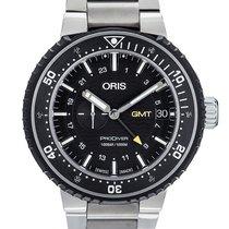 Oris ProDiver GMT pre-owned 49mm Black GMT Titanium