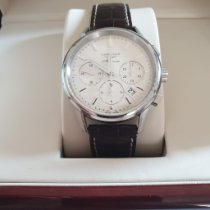 Longines Steel Automatic Silver 40mm pre-owned Column-Wheel Chronograph