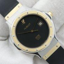 Hublot Classic Gold/Stahl 28mm Schwarz Keine Ziffern