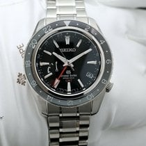 Seiko Grand Seiko Steel 44mm Black No numerals