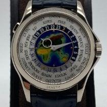 Patek Philippe World Time Белое золото 39.5mm Cеребро