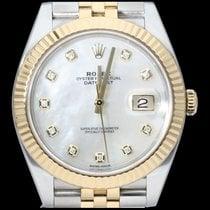 Rolex Datejust II Or/Acier 41mm Nacre Sans chiffres