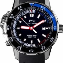 IWC Aquatimer Deep Two Сталь 47.6mm Черный Без цифр