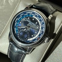 Frederique Constant Manufacture Worldtimer Steel 42mm Blue Arabic numerals United States of America, Utah, Park City