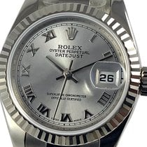 Rolex White gold Automatic Grey Roman numerals 26mm new Lady-Datejust