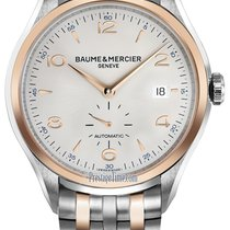 Baume & Mercier Clifton Gold/Steel 41mm Silver Arabic numerals United States of America, New Jersey, Princeton