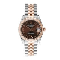 Rolex Lady-Datejust Steel 31mm Brown Roman numerals United States of America, New York, New York