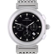 IWC Da Vinci Chronograph pre-owned 37mm Black Chronograph Date Steel