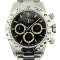 Rolex Steel Automatic Black No numerals 40mm pre-owned Daytona