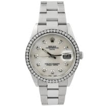 Rolex Oyster Perpetual Date Steel 34mm Mother of pearl No numerals
