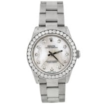 Rolex Oyster Perpetual 31 pre-owned 31mm Mother of pearl Steel
