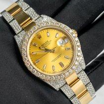 Rolex Datejust Oro amarillo 41mm Champán Sin cifras