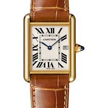 Cartier Yellow gold Quartz Silver Roman numerals new Tank Louis Cartier