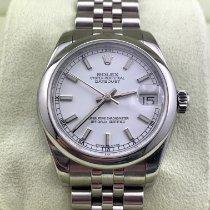 Rolex Lady-Datejust Acciaio 31mm Bianco Italia