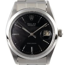 Rolex Oyster Precision Steel 34mm Black