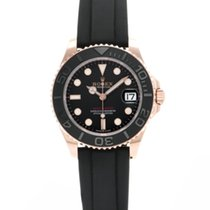 Rolex Rose gold Automatic Black 37mm new Yacht-Master 37