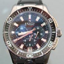 Zenith El Primero Stratos Flyback Steel 45,5mm Black No numerals