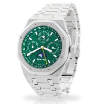 Audemars Piguet Royal Oak Perpetual Calendar Acero 41mm Verde