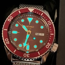 Seiko 5 Sports Steel 42.5mm Bordeaux No numerals United States of America, New Jersey, Port Republic