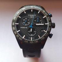 Tissot PRS 516 gebraucht 42mm Schwarz Chronograph Datum Kautschuk