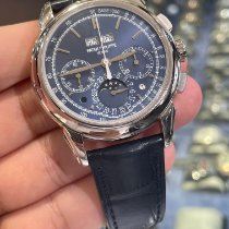 Patek Philippe Perpetual Calendar Chronograph Oro blanco 41mm Azul Sin cifras