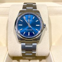 Rolex Oyster Perpetual 34 Steel 34mm Blue No numerals United States of America, New York, New York