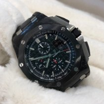 Audemars Piguet Plastic Automatic Black No numerals 44mm new Royal Oak Offshore Chronograph