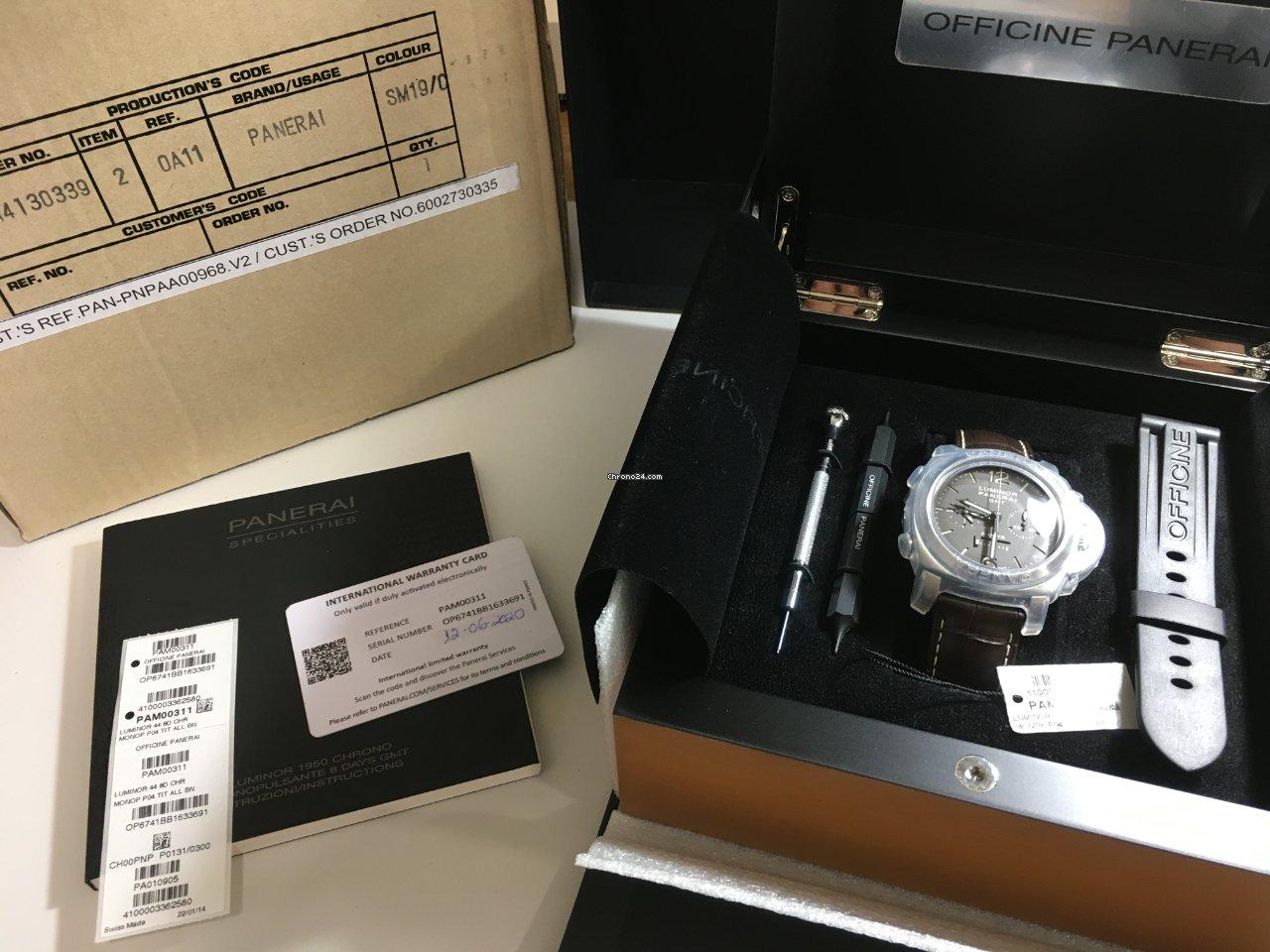 Panerai Luminor 1950 8 Days Chrono Monopulsante GMT PAM 00311 2015 usados