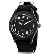 IWC Ceramic Automatic Black Arabic numerals 41mm new Pilot Chronograph Top Gun