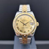 Rolex Lady-Datejust Золото/Cталь 31mm Цвета шампань Римские