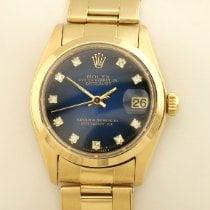 Rolex Lady-Datejust Or jaune 30mm Bleu Sans chiffres