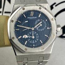 Audemars Piguet Royal Oak Dual Time Stahl 39mm Blau Keine Ziffern