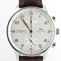 IWC Portuguese Chronograph Acero 40mm Blanco Arábigos