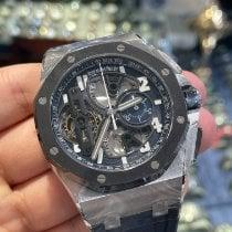 Audemars Piguet Royal Oak Offshore Tourbillon Chronograph Platino 44mm Azul Arábigos