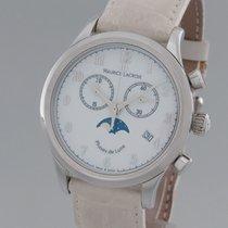 Maurice Lacroix Les Classiques Phases de Lune gebraucht Weiß Leder
