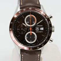 TAG Heuer Carrera Calibre 16 pre-owned 41mm Brown Chronograph Leather