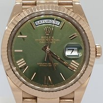 Rolex Day-Date 40 Rose gold 40mm Green Roman numerals UAE, Sharjah