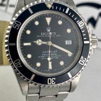 Rolex Sea-Dweller Сталь 40mm Черный Без цифр