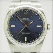 Rolex Oyster Perpetual 39 usados 39mm Azul Acero