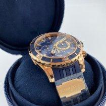 Ulysse Nardin Diver Chronograph Pозовое золото 44mm Синий Без цифр