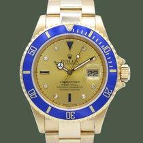 Rolex Submariner Date Gelbgold 40mm Champagnerfarben Keine Ziffern