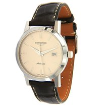 Longines Heritage pre-owned 40mm Champagne Date Leather