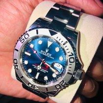 Rolex Platino Automático Azul Sin cifras 40mm nuevo Yacht-Master 40