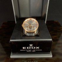 Edox Les Bémonts Złoto różowe 42mm Srebrny Bez cyfr