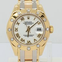 Rolex Lady-Datejust Pearlmaster Yellow gold 29mm White Roman numerals UAE, Sharjah