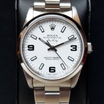 Rolex Air King Precision Acero 34mm Blanco Arábigos España, Lleida