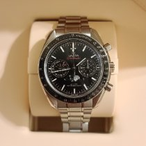 Omega Speedmaster Professional Moonwatch Moonphase pre-owned 44.25mm Black Moon phase Chronograph Date Steel